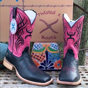 TWISTED X NEW Hooey Square Toe Western Boots 8.5